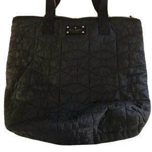Kate Spade NY Signature Black Quilted Bon Tote